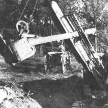 Dam Construction, 1929, photo by Lester Klintworth